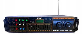 Підсилювач звуку - UKC AV-663BT Bluetooth FM SD USB, AUX Караоке 4 x Мікрофону