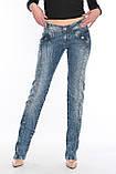 Джинсы женские OMAT jeans 9628-768 синие, фото 3