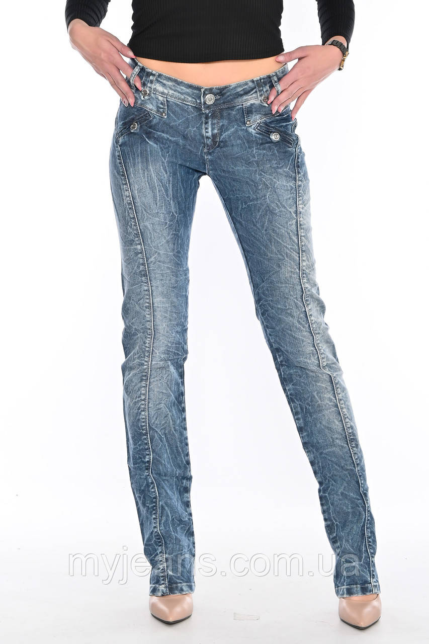 Джинсы женские OMAT jeans 9628-768 синие