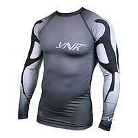 Спортивный рашгард с длинным рукавом лонгслив VNK серый, компрессионная одежда для бега и спорта