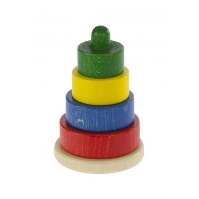 Развивающая игрушка nic Пирамидка деревянная этажная разноцветная (NIC2312)