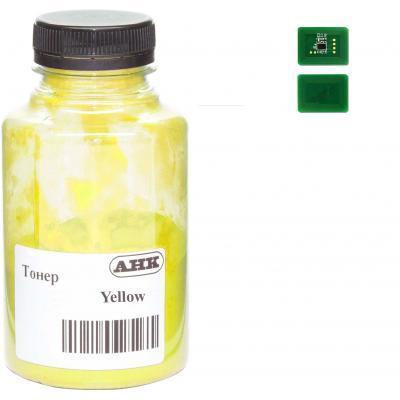 Тонер OKI C612 , 180г Yellow+ chip AHK (3203317)