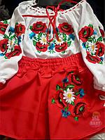 Детский украинский костюм на девочку
