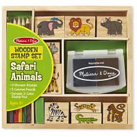 Набор для творчества Melissa&Doug Набор штампов Животные сафари (MD8786)