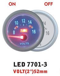 Дополнительный прибор Ket Gauge LED 7701-3 вольтметр
