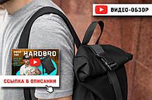 Рюкзак мужской городской спортивный черный, мужской рюкзак городской для ноутбука, рюкзак роллтоп HardBro, фото 2