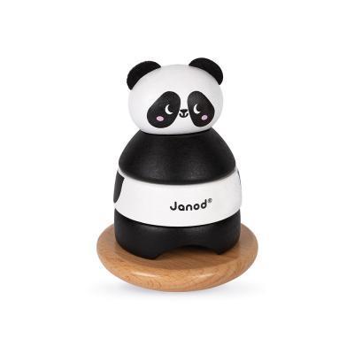 Развивающая игрушка Janod Пирамидка Панда (J08188)