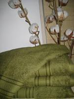 Махровое полотенце, 40*80, 100% хлопок, 500 гр/м2, Пакистан, Оливковый