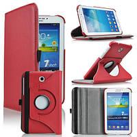 Кожаный чехол-книжка TTX (360 градусов) для Samsung Galaxy Tab 3 7.0 T2100/T2110 Красный
