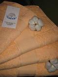 Махровий рушник, 40*80, 100% бавовна 500 гр/м2, Пакистан, Персик, фото 2
