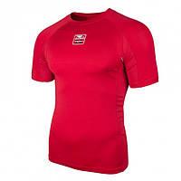 Спортивный рашгард с коротким рукавом Bad Boy красный, компрессионная одежда для бега и спорта