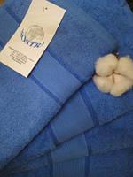 Махровое полотенце, 40*80, 100% хлопок, 500 гр/м2, Пакистан, Синий