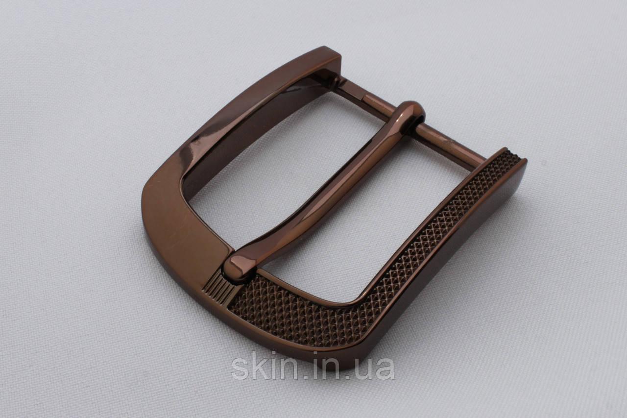 Пряжка ременная, ширина - 40 мм, цвет - бронза, артикул СК 5640