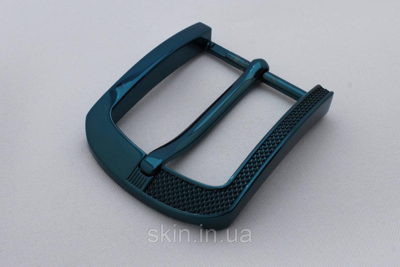 Пряжка ременная, ширина - 40 мм, цвет - черно-синий, артикул СК 5641