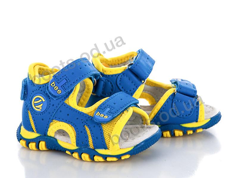 """Сандалии  детские """"Style-baby-Clibee"""" #NA-6 сине-желтый. р-р 18-23. Цвет синий. Оптом"""