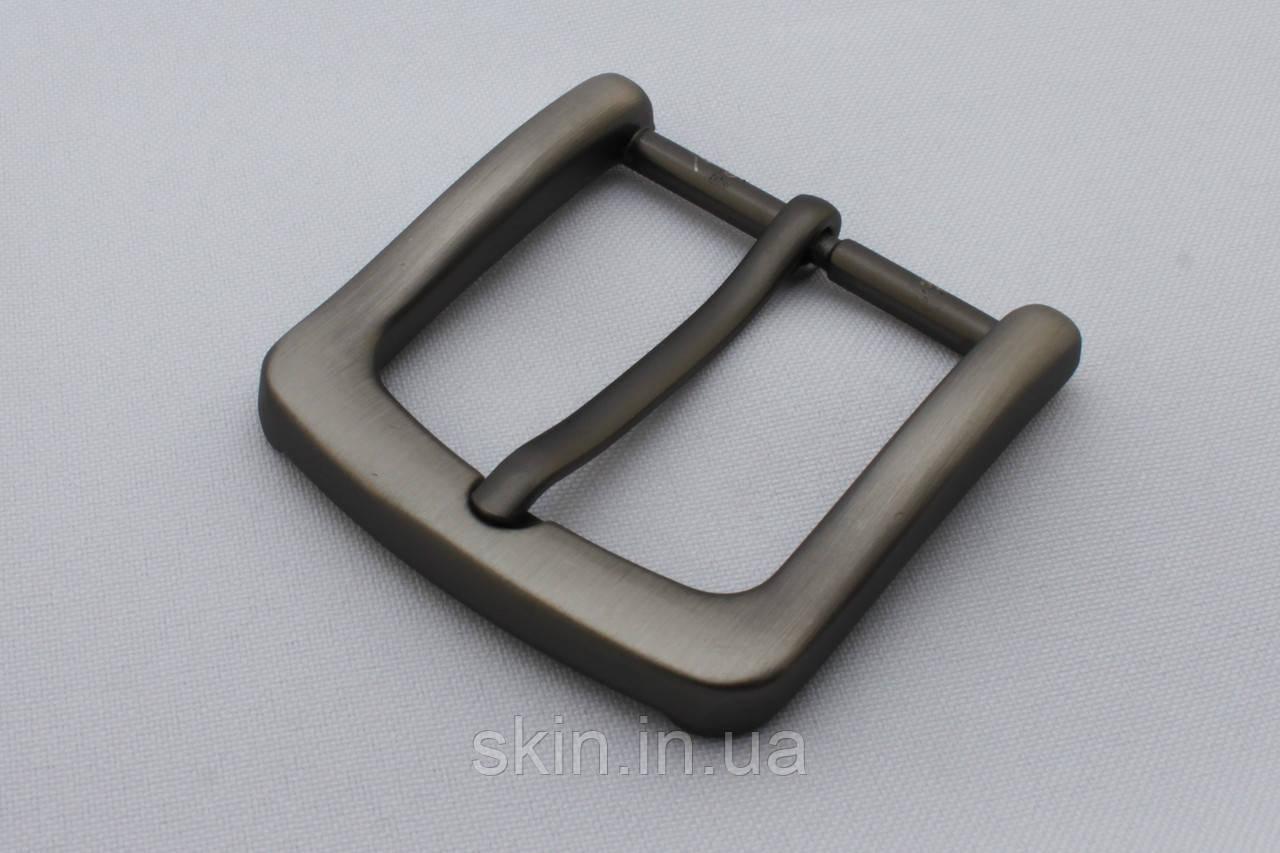 Пряжка ременная, ширина - 40 мм, цвет - серый, артикул СК 5648