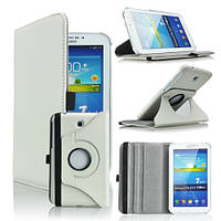 Кожаный чехол-книжка TTX (360 градусов) для Samsung Galaxy Tab 3 7.0 T2100/T2110 Белый