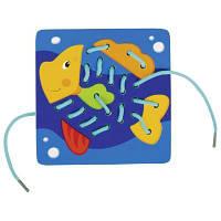 Развивающая игрушка Goki Шнуровка Животные (58572G), фото 1