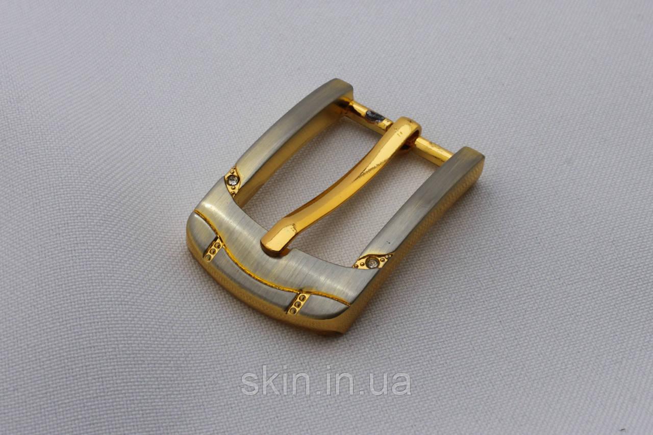 Пряжка ременная, ширина - 20 мм, цвет - золотистый, артикул СК 5657
