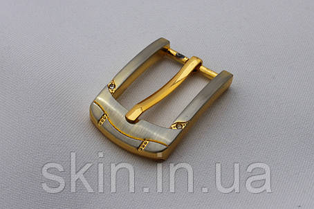 Пряжка ременная, ширина - 20 мм, цвет - золотистый, артикул СК 5657, фото 2