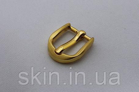 Пряжка ременная, ширина - 15 мм, цвет - золотистый, артикул СК 5660, фото 2