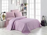Комплект постельного белья c вафельным покрывалом Ранфорс  220*240 Pike Set ( TM BEGENAL ) Julia, Турция, фото 1