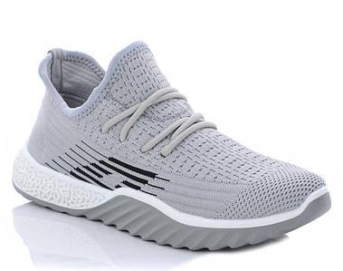 Летние женские кроссовки из серого вентилируемого текстиля 1208160780