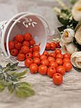 Помаранчеві бусіни з дерева, діаметр 1,3 см, 50 шт/уп 15 грн, фото 4