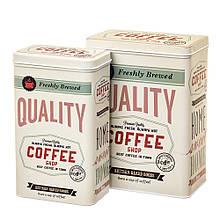 """Набор из 2-ух жестяных банок """"Coffee"""" 18113-033 баночки для специй банки для круп для сыпучих"""
