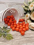 Помаранчеві бусіни з дерева, діаметр 1,3 см, 50 шт/уп 15 грн, фото 3