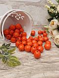 Помаранчеві бусіни з дерева, діаметр 1,3 см, 50 шт/уп 15 грн, фото 2