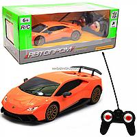 Машинка игровая автопром на радиоуправлении Lamborghini Huracan (Ламборджини Хуракан) оранжевый (8828), фото 1
