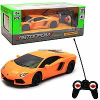 Машинка игровая автопром на радиоуправлении Lamborghini LP700 желтый (8809), фото 1