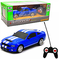 Машинка игровая автопром на радиоуправлении Форд Мустанг GT500 синий (8823)