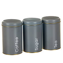 "Набор из 3-х жестяных банок ""Чай, кофе и сахар"" 18113-018"