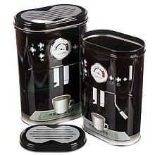 Набор из 2-ух жестяных банок для чая и кофе 1084JH баночки для специй банки для круп для сыпучих