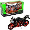 Мотоцикл Автопром Черно-оранжевый, 16х5х10 см (7750)