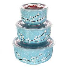Набор керамических контейнеров Lefard с вакуумной крышкой 3 шт 10049JA-C