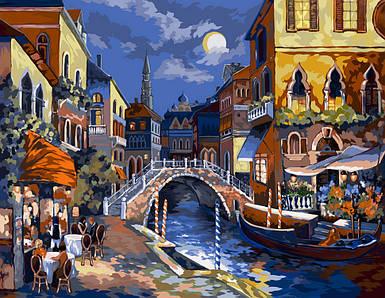 Картина по номерам Мост в Венеции 40х50см. Danko Toys 24 краски!