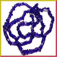 Сколы Кварц Синий Кубиками, Размер 4-6*4-6 мм. Около 85 см нить Бусины Натуральный Камень, Рукоделие