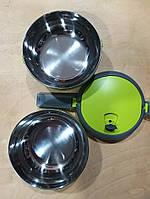 Термобоксы пищевые термосы 2 отделения  Термос для пищевых продуктов  Контейнеры и термоконтейнеры нержавейка