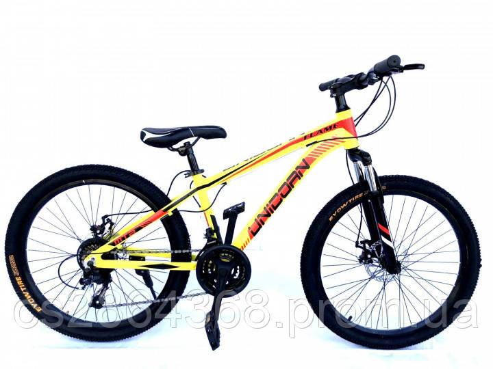 "Велосипед Unicorn Flame 24 размер рамы 15"" Yellow"