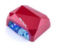 УФ/LED-CCFL лампа для сушки гель-лаков YRE Diamond 36 Вт (красная)
