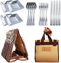 Туристический Набор Посуды TNR camping Набор Столовый для Пикника