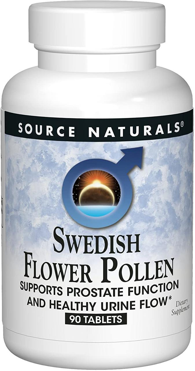 Source Naturals Swedish Flower Pollen екстракт шведської квіткового пилку 90 таб