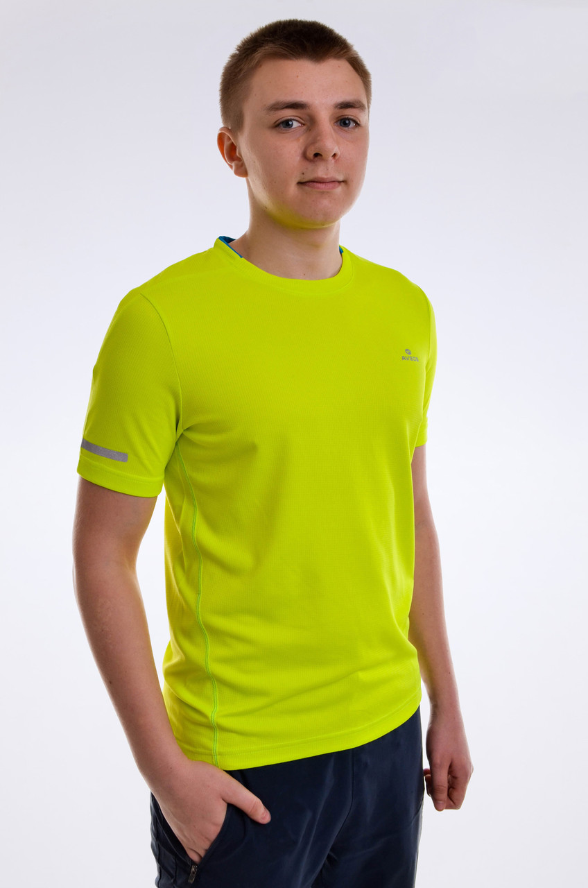 Футболка мужская кислотная для фитнеса салатовая Avecs AV-30130 Размеры S/46 XL/52
