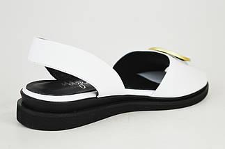 Босоножки белые на плоской подошве Molly Bessa 1582021 белые кожа, фото 3