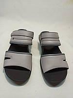 Мужские сандалии кожаные.Шлепки мужские  Iкос