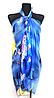 Легкое парео Fashion Аманда рыбки 155*95 см синий 513