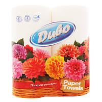 Кухонные полотенца в рулонах Диво в упаковке два рулона 31885